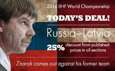 2016 IIHF World Championship. Group A. Russia vs. Latvia