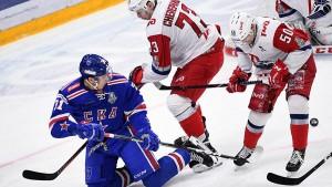 КХЛ Плей-офф 1/4. Ска - Локомотив 1-0